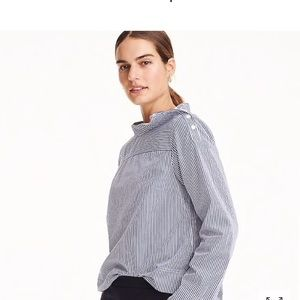 J. Crew Funnel Neck Cotton Shirt